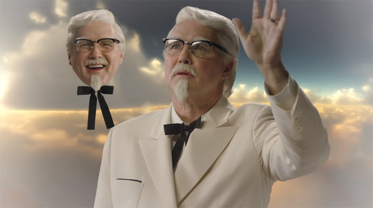 It appears Norm Macdonald is no longer Colonel Sanders