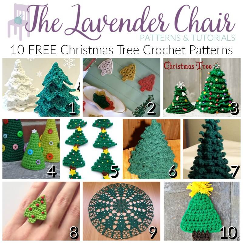 FREE Christmas Tree Crochet Patterns - The Lavender Chair - free christmas tree templates