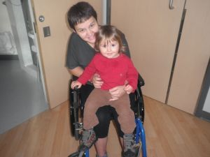 Visiting-mommy-and-going-for-wheelchair-rides