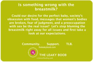 Blaming breastmilk