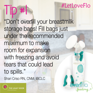Evenflo breastmilk storage bag adaptors