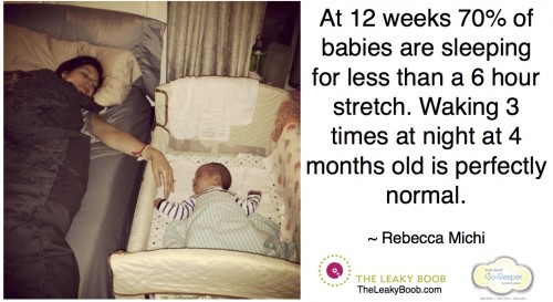 Rebecca Michi normal sleep 4 month old Arms Reach 01.16