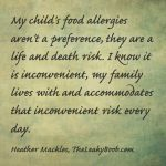 When Food Makes Your Child Sick- Allergies and Parenting