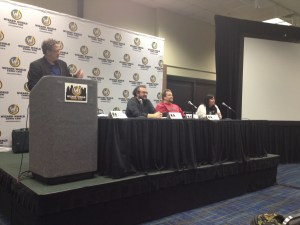 """Comics Goes To College"" panel at Day 1 of Wizard World Comic Con New Orleans"