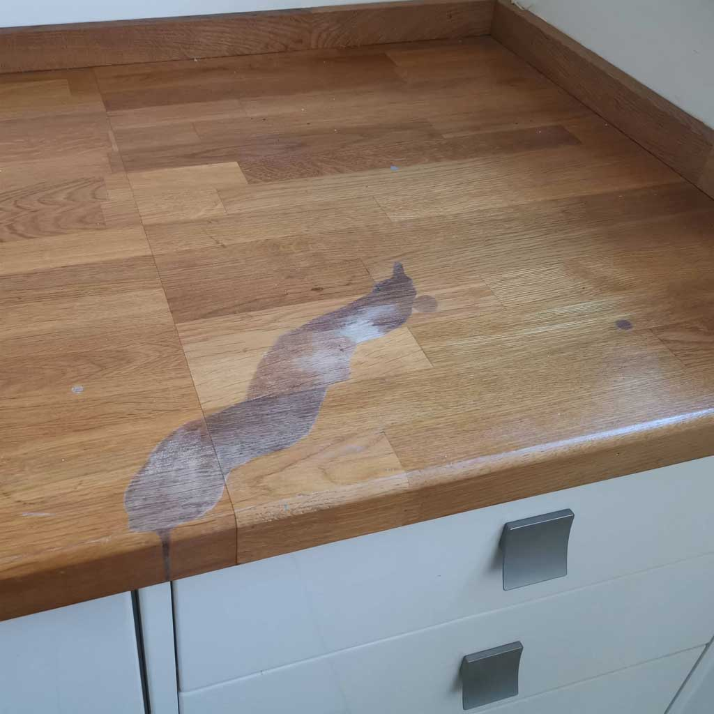 Kitchen Work Surface Repair York The Leather And Timber Doctor