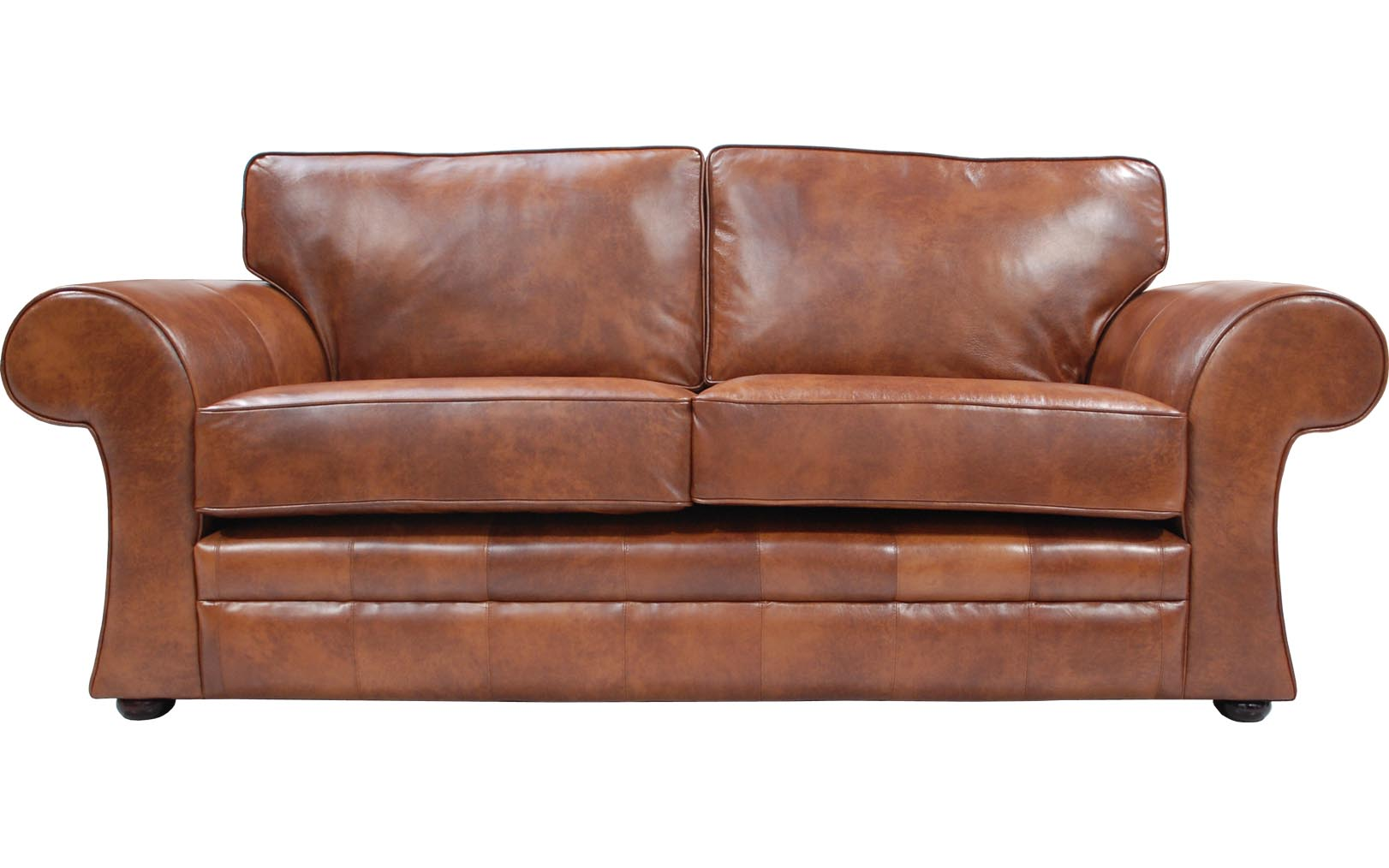 Brown Real Leather Couch Cavan Real Leather Sofa Bed