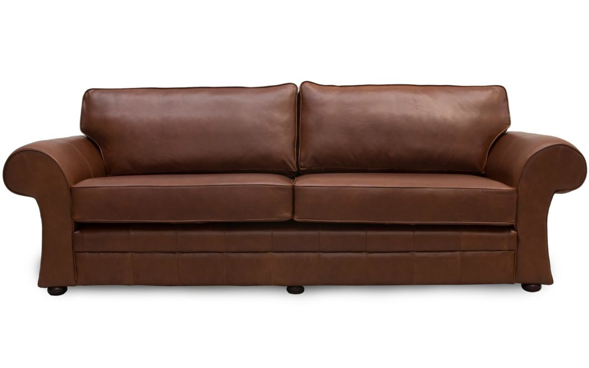 Made Sofa Shop Cavan Scroll Arm Leather Sofas