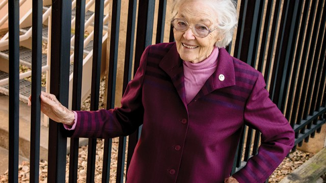 Sister Maria Larkin, OSB, has been involved in jail ministry for the past 14 years — something she felt called to at the age of 73. Photo by Rox Stec