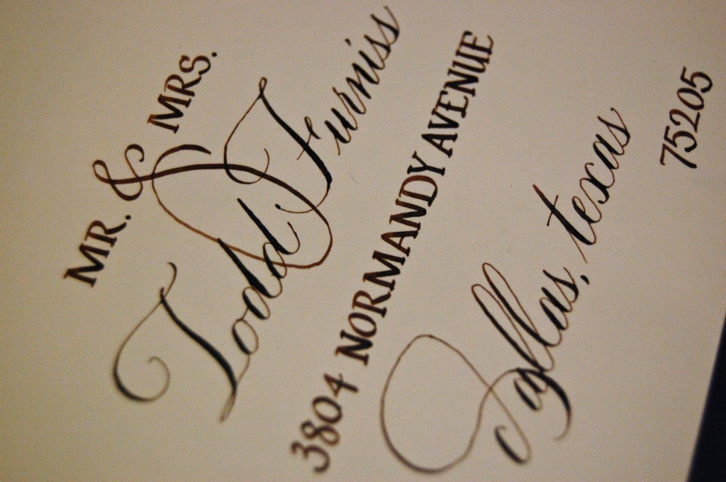 Save the Date Calligraphy - Mixed fonts Left Handed Calligrapher