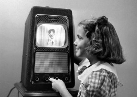 girl with early tv