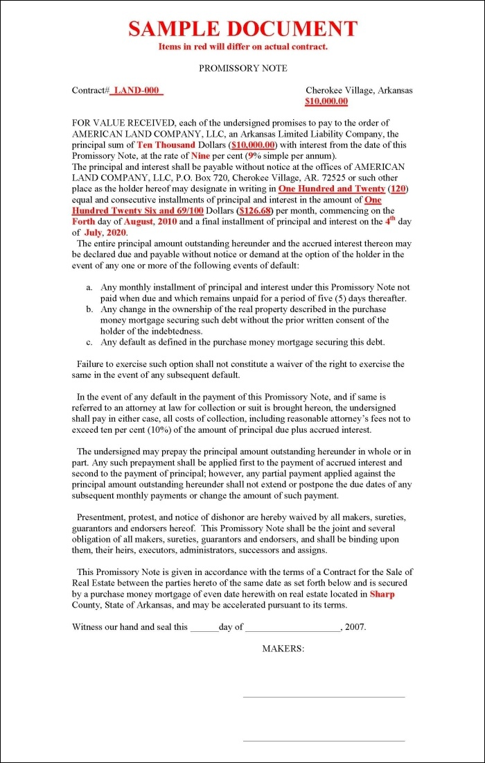mortgage note sample - thebridgesummit - mortgage contract template