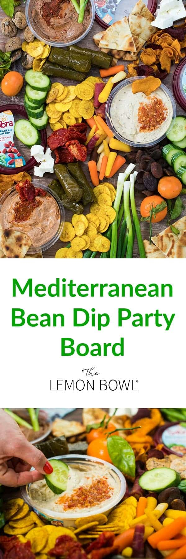 Mediterrane Küche An Bord Mediterranean Bean Dip Party Board The Lemon Bowl