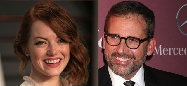 see emma stone steve carell trade quips lobs in battle of the sexes 1