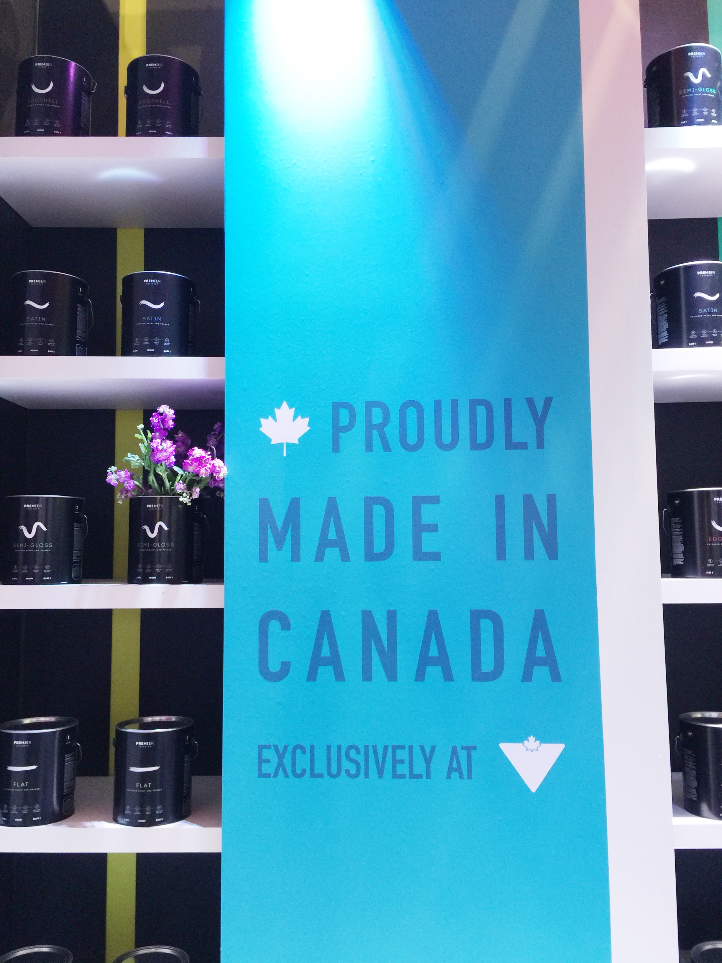 Canadian Tire Book Shelves Toronto Interior Design Show With Premier Infinity Paint The