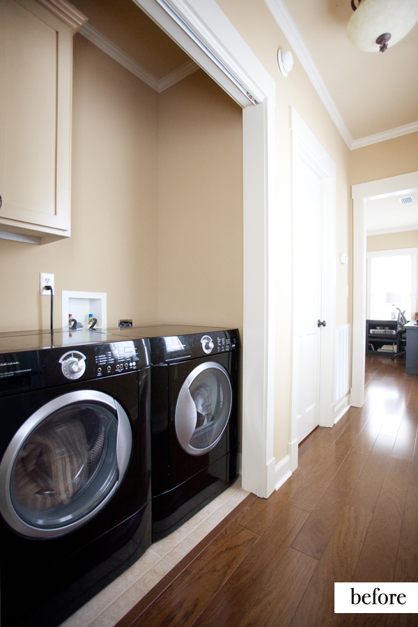 Paint Colors For Laundry Room Walls Hallway/laundry Area Makeover - Before And After | The