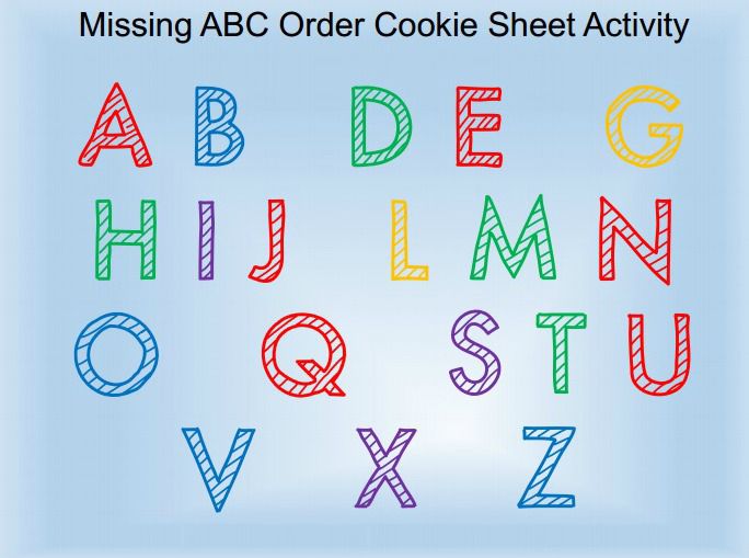 Missing Letters Cookie Sheet Activity - The Letters of Literacy