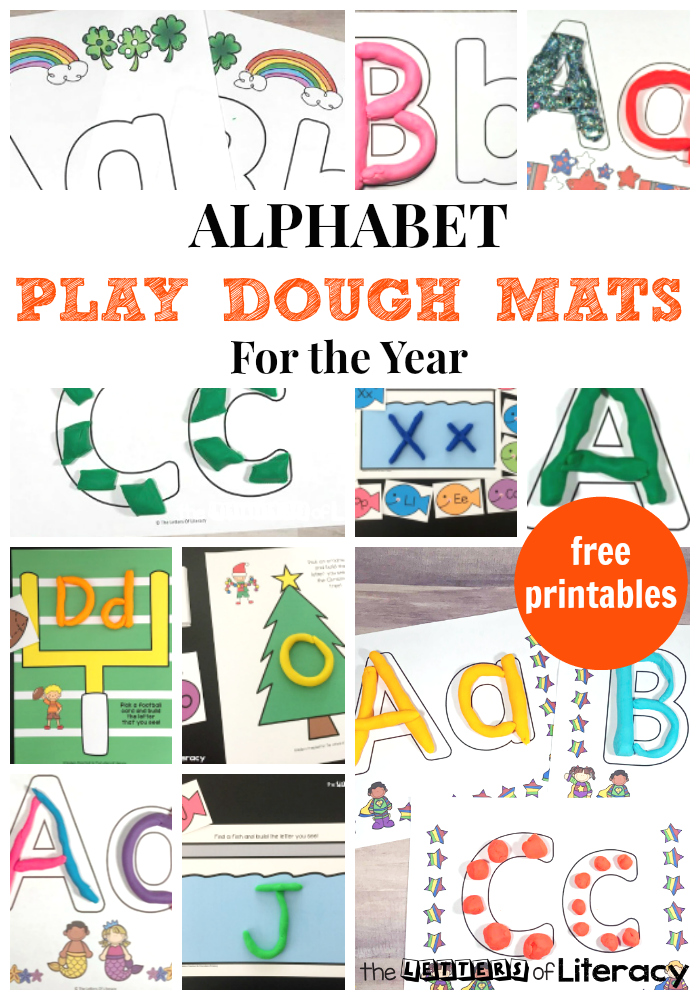 FREE Alphabet Play Dough Mats for Literacy in the Classroom!