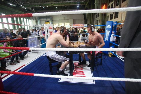 A game of Chess Boxing, a strange sport which is gaining popularity