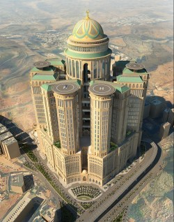 Aerial view of Abraj Kudai design which will be the world's largest hotel once complete
