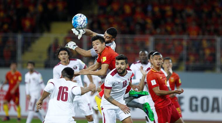 Qatar Vs. China in the Russia 2018 World Cup qualifiers