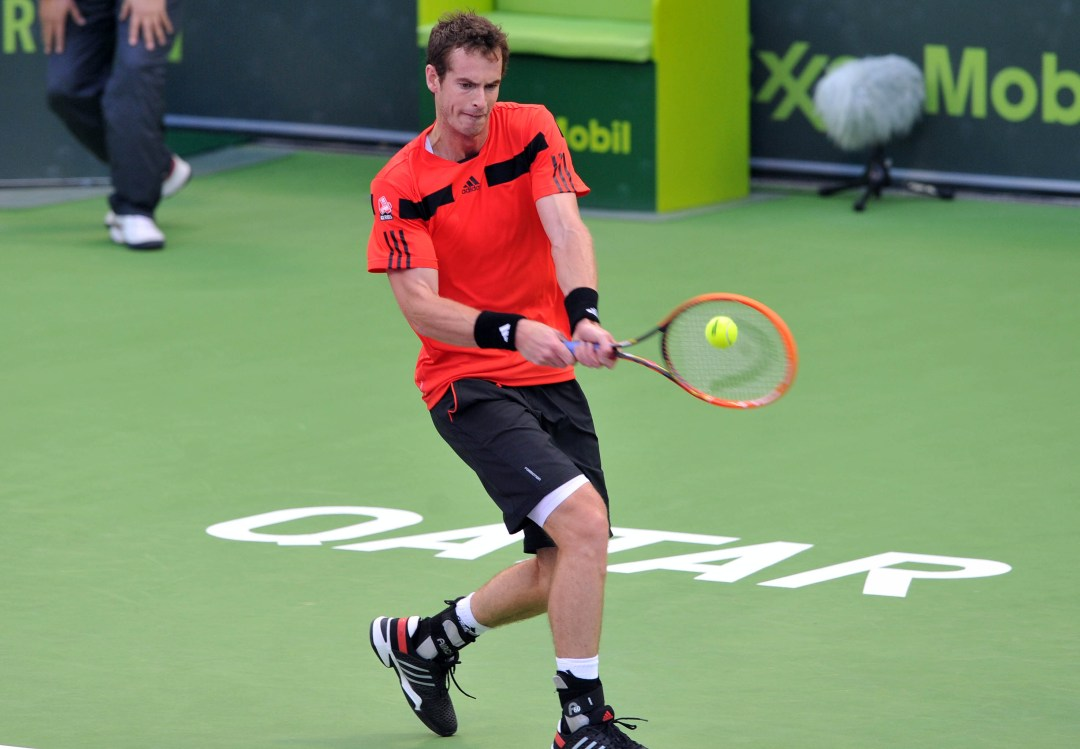 Andy Murray at the Qatar Open - Doha News