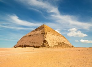 King Sneferu's bent pyramid in Dahshur, Egypt