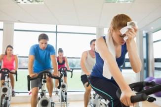 People seating during workout