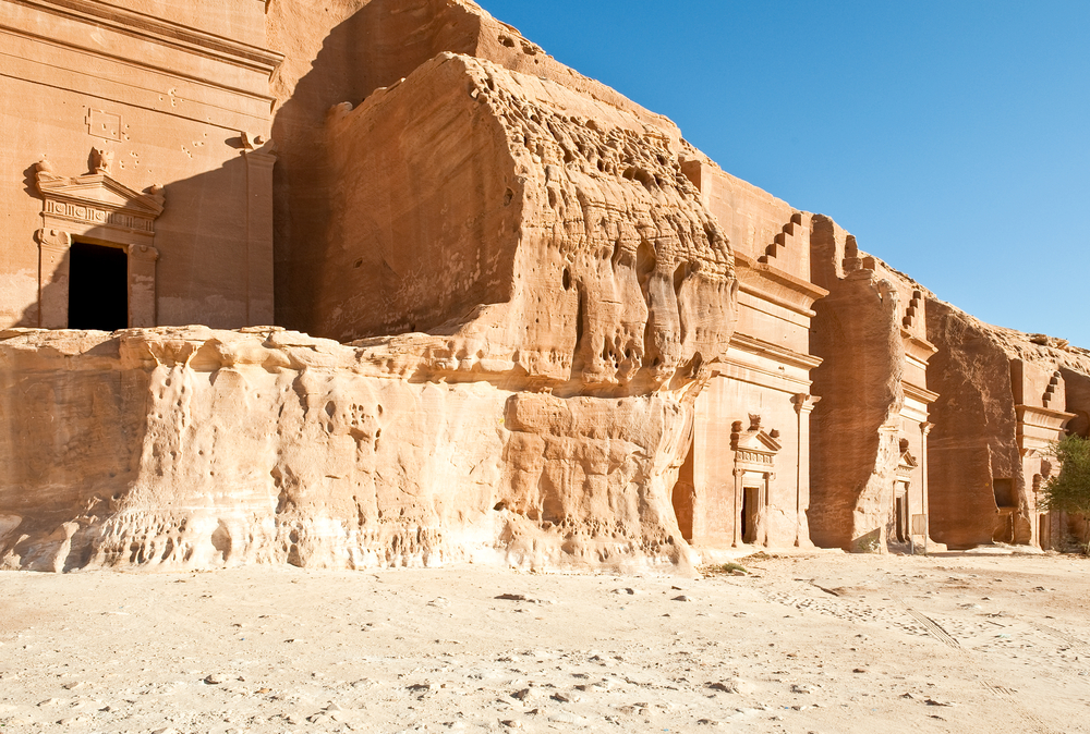 A necropolis in Mada'in Saleh, Saudi Arabia