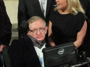 Professor Stephen Hawking at the 2015 BAFTA film awards