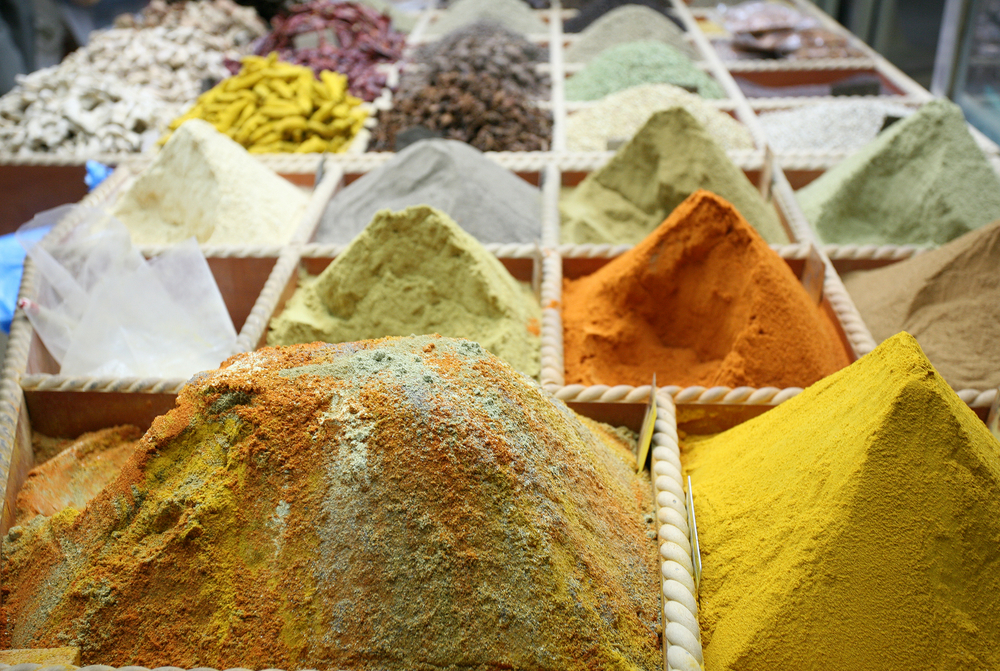 Spices at a Doha market