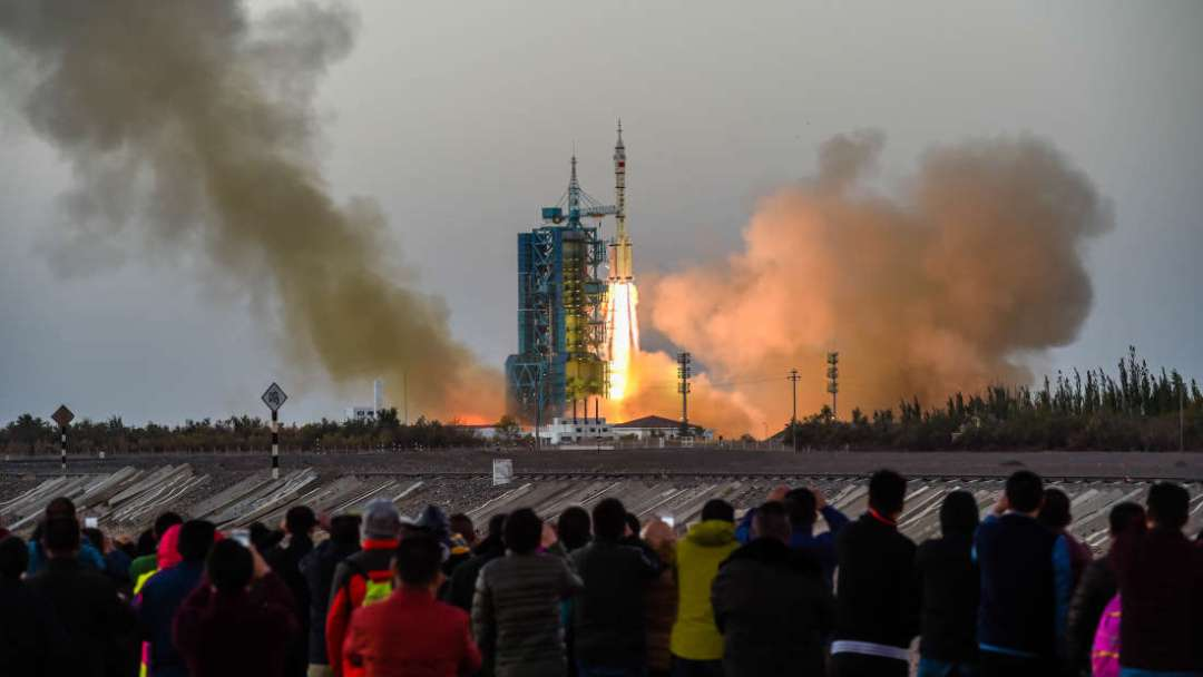 China's Shenzhou-11 mission launch