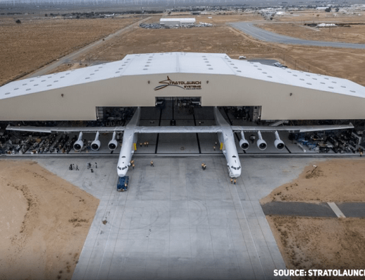 Stratolaunch, the largest airplane in the world.