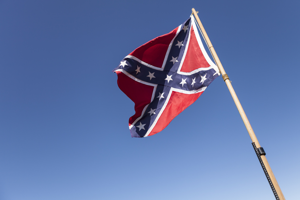 A Confederate flag