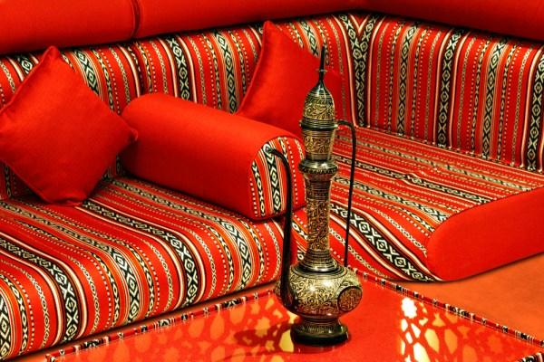 Floor seating inside a majlis