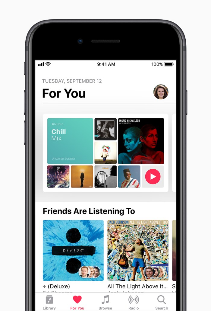 Apple Music on iOS 11 for Apple iPhone & iPad
