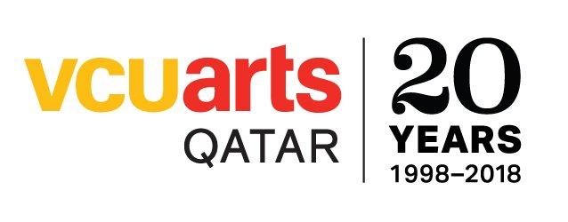 VCUarts Qatar 20th Anniversary logo