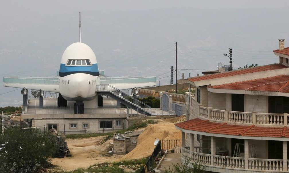 Airplane house, Miziara, is one of the weird buildings in Lebanon. Aziz Taher/Reuters/Metro