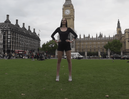 Ekaterina Lisina is the tallest model and has the longest legs