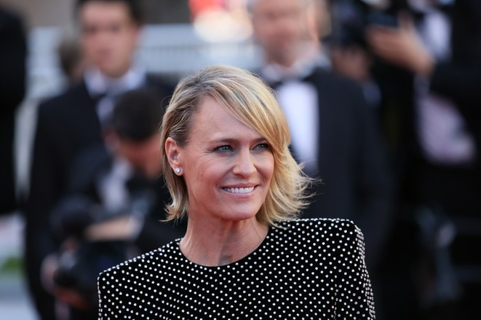 Robin Wright, plays Claire Underwood on the Netflix series House of Cards