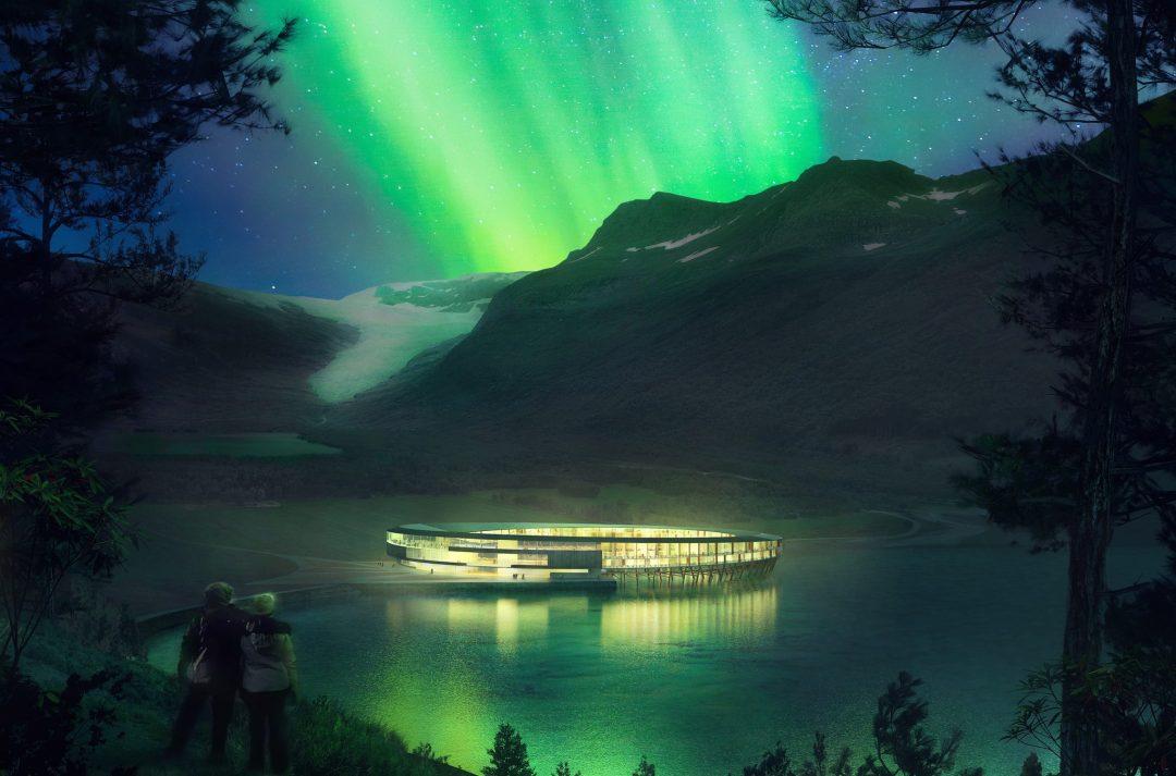 The fjord around the Svart hotel, Norway - Snohetta