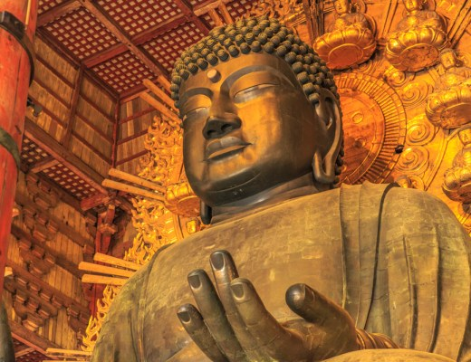 a Buddha statue in the Japanese city of nara has shown to conceal some 180 artifacts