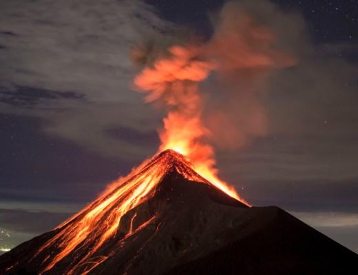 mount volcano erupting