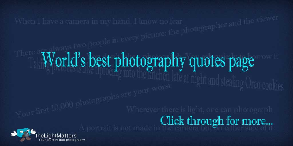 Worlds best Tweetable photography quote page -- theLightMatters