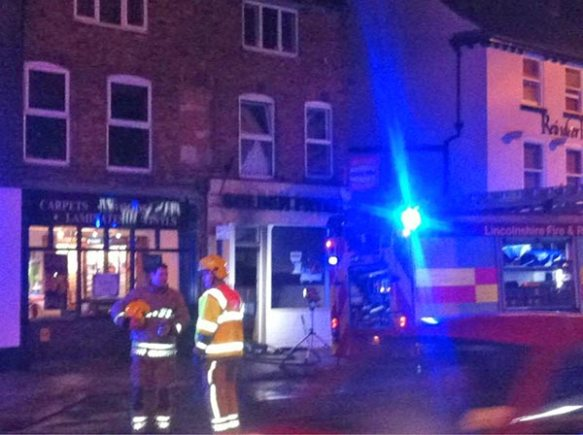Firemen cleared the flat upstairs the chip shop