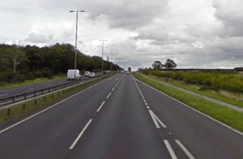 A46 near Swinderby. Photo: Google Street View