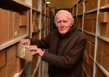 Ray Hooley, who was responsible for collating much of the material in the archive over the decades. Photo: Steve Smailes for The Lincolnite