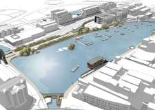 A sketch of the Brayford vision by Stem Architects in Lincoln