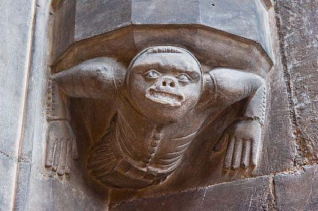 A carved imp in the priest's room at the Mary's Church in Beverley.