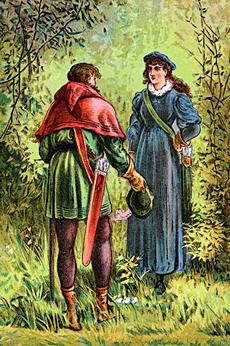 Robin Hood in Lincoln Red and Lincoln Green.