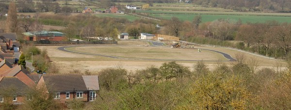 Long Leys Road Cemetery during construction in early 2013. Photo: CoLC